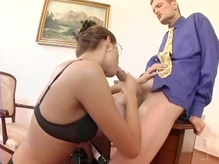 fresh associate bang in thigh high nylons