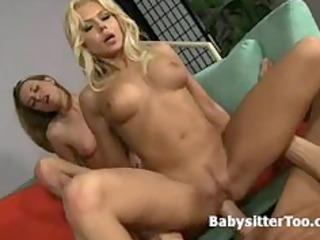 big breast blonde milf shares man with teenage