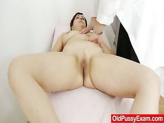 red-haired madam internal piss cave medical-tool