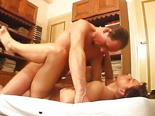 perky mature performs for her cuckhold man