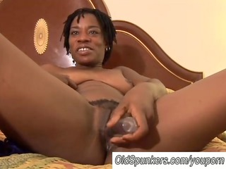 sexy dark girl has a wet cave