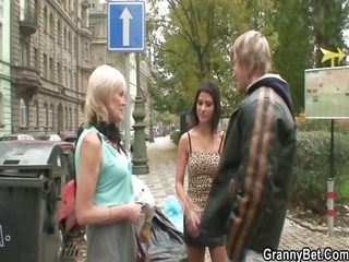 granny slut obtains it from behind
