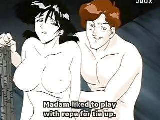 bondage hentai wifehouse fingered clitoris and