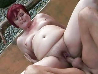 chubby grandma acquires her pussy gang-banged