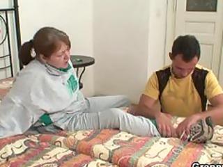 injured grandma takes healed by fresh libido