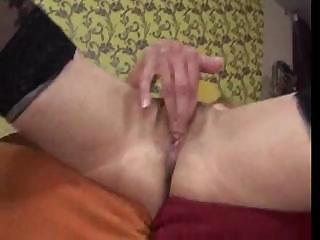slim old uses vibrator and acquires her pussy