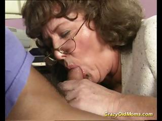 horny old lady acquires large cock