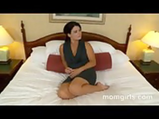 brunette lady does her first grownup video