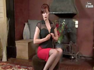redhead older whore inside brown nylons fingers