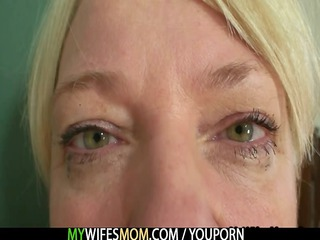 pushing dildo mother into law takes busted and