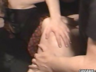 slut gets laid by30 strangers at swingers