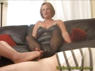 twice milf footjob