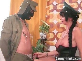 naughty brunette with giant breast plays part6