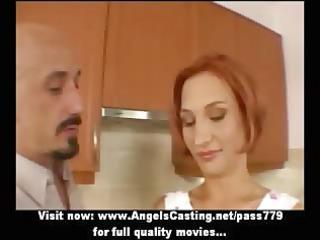 inexperienced astonishing ginger sexy wife