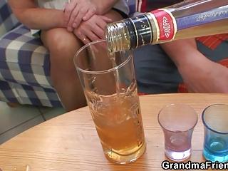 partying men nail pale grandma