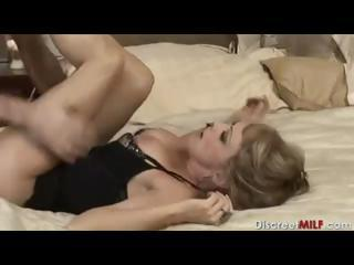 mature woman with inexperienced guy inside bedroom