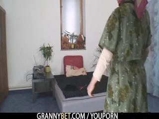 one granny teases a stranger