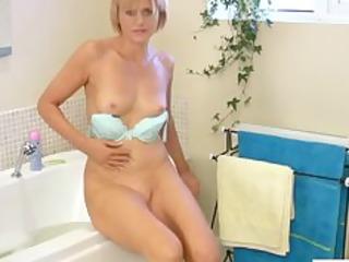 at home mature vibrator shower masturbation