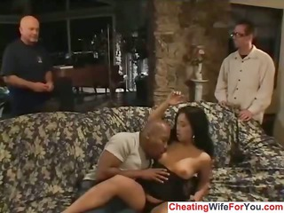 eastern house housewife got brown cock