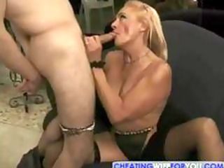 blond grown-up kathy jones likes tasting and