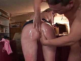 milf with large bossom takes fucked with giant