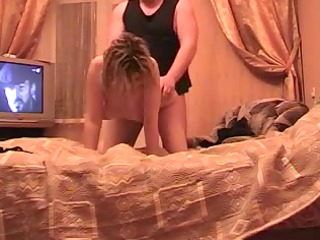 aged dilettante russian pair sexy banging on bunk