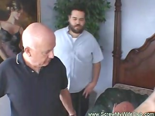 housewife loves to observe his woman gang fuck