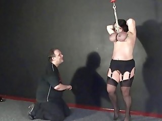 andreas breast hanging and extreme cougar bdsm