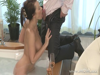 mommy duo make worship inside a awesome bath