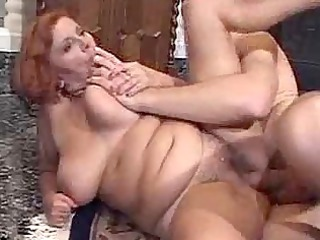 hirsute granny with huge bossom gets a big
