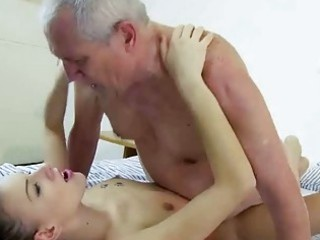 adorable amateur playing fuck with grandpa