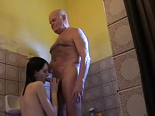 so elderly grandpa mireck and fresh girl