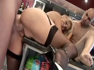european granny inside darksome pantyhose gets