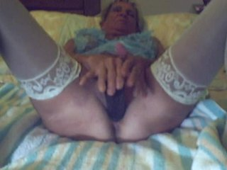 granny with black vibrator