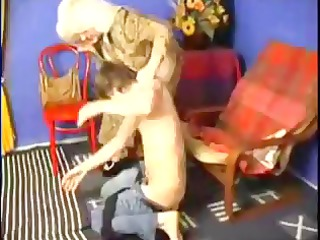 granny girl spanks him and later copulates him