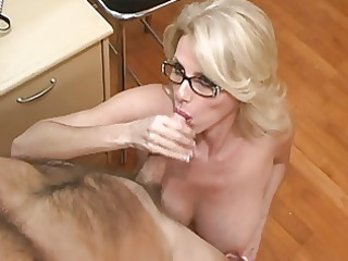 mature associate acquires colorless cream on her