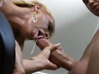 stiff butt albino momma with giant knockers gives