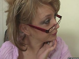 extremely impressive office porn with mature whore
