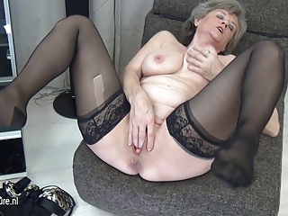 slutty grandma masturbate lonely