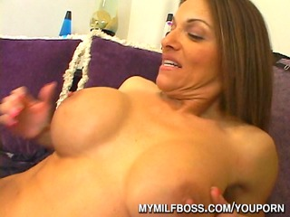 giant titty cougar babe boss banged at agency