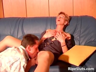 awesome and horny grownup bitch takes juicy