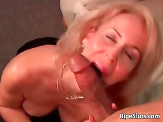 horny grownup bleached obtains wet furry kitty