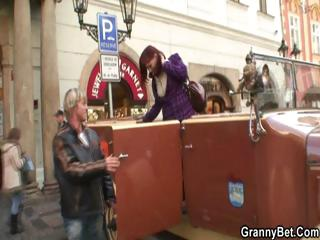 elderly tourist takes drilled