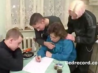 elderly russian with 3 guys 1
