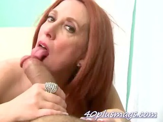 red-haired older super libido licking