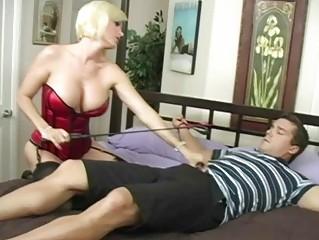 sweet slutty blond woman licking big plump libido