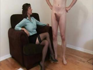 lingerie dressing on mature babe jerks a men cock
