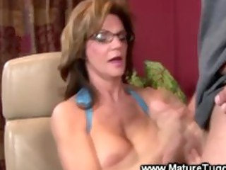 cougar babe massaging a libido