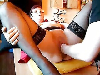 mature amateur fisted into her cavernous cave