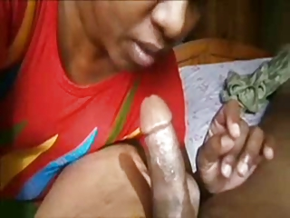 indian cougar sucks cock